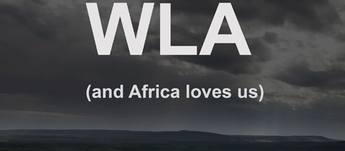 We love Africa…